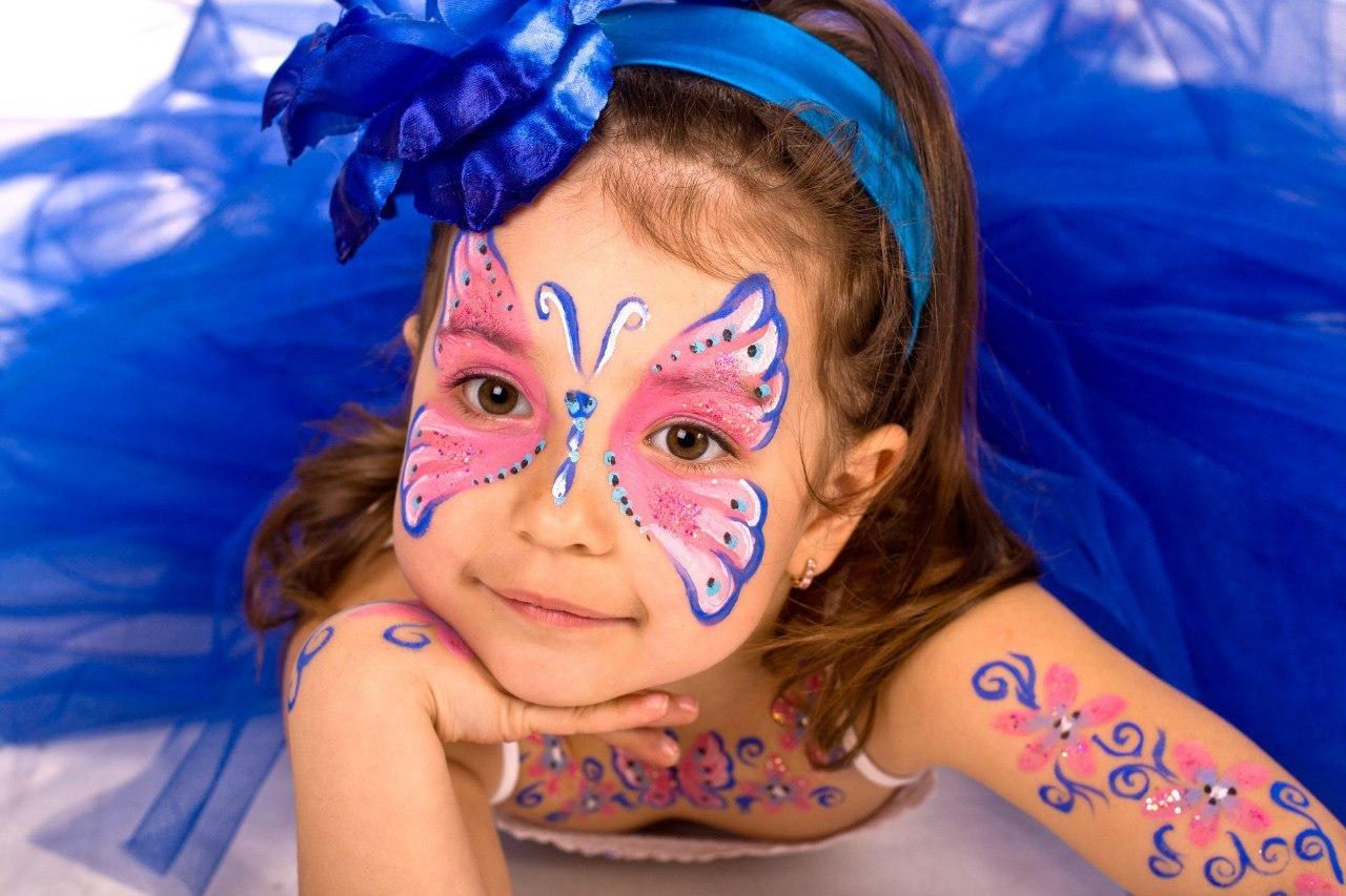 Раскраски на лице фото для детей